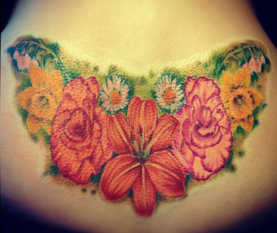 Flower Tattoo Lily Carnations Daisy S Daffodils And