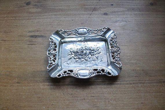 Antiker alter Silber 835 Aschenbecher von Schmuckbaron auf Etsy