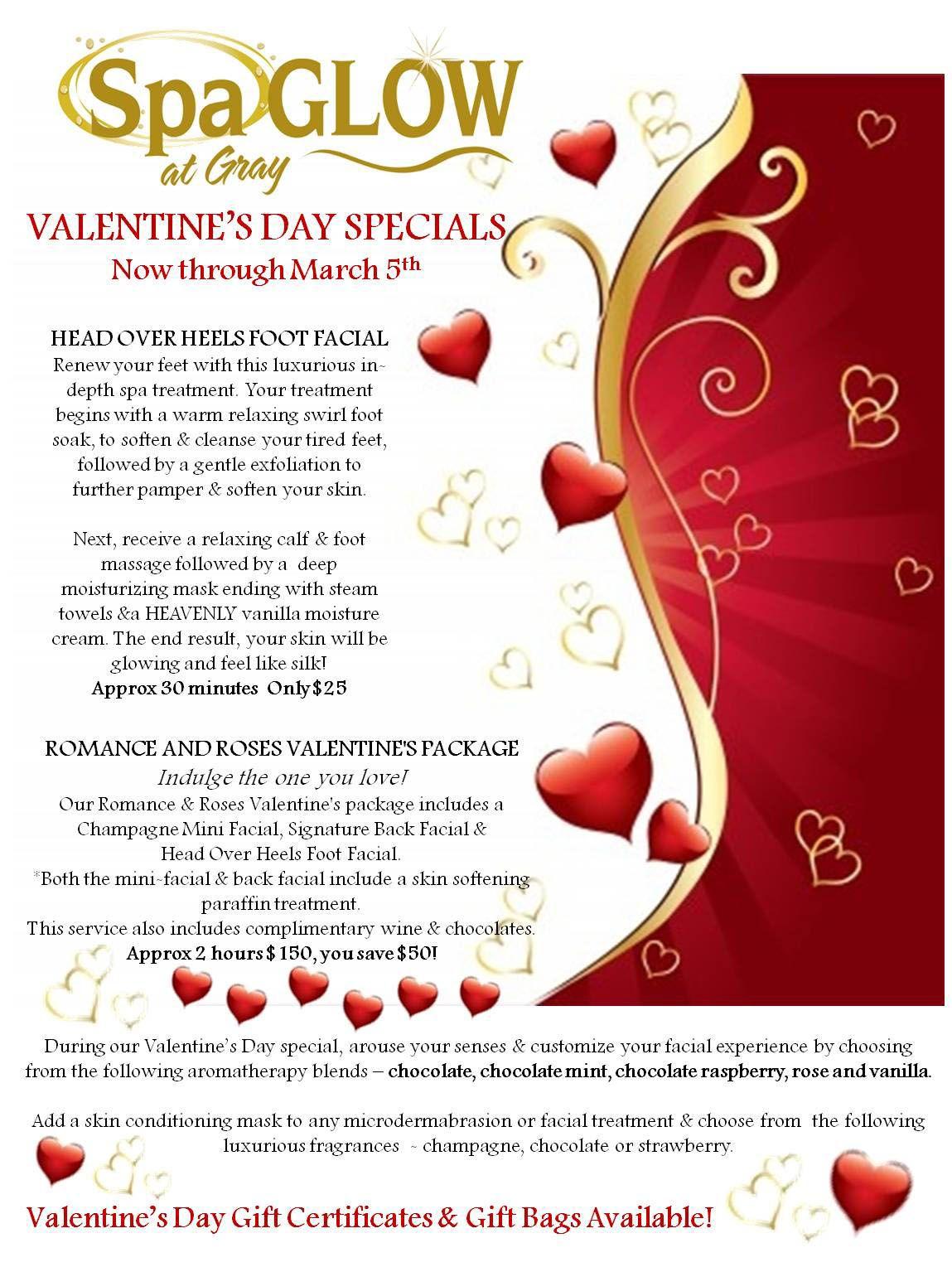 Valentines Day Spa Specials Day Spa Specials Valentine Spa Spa Specials