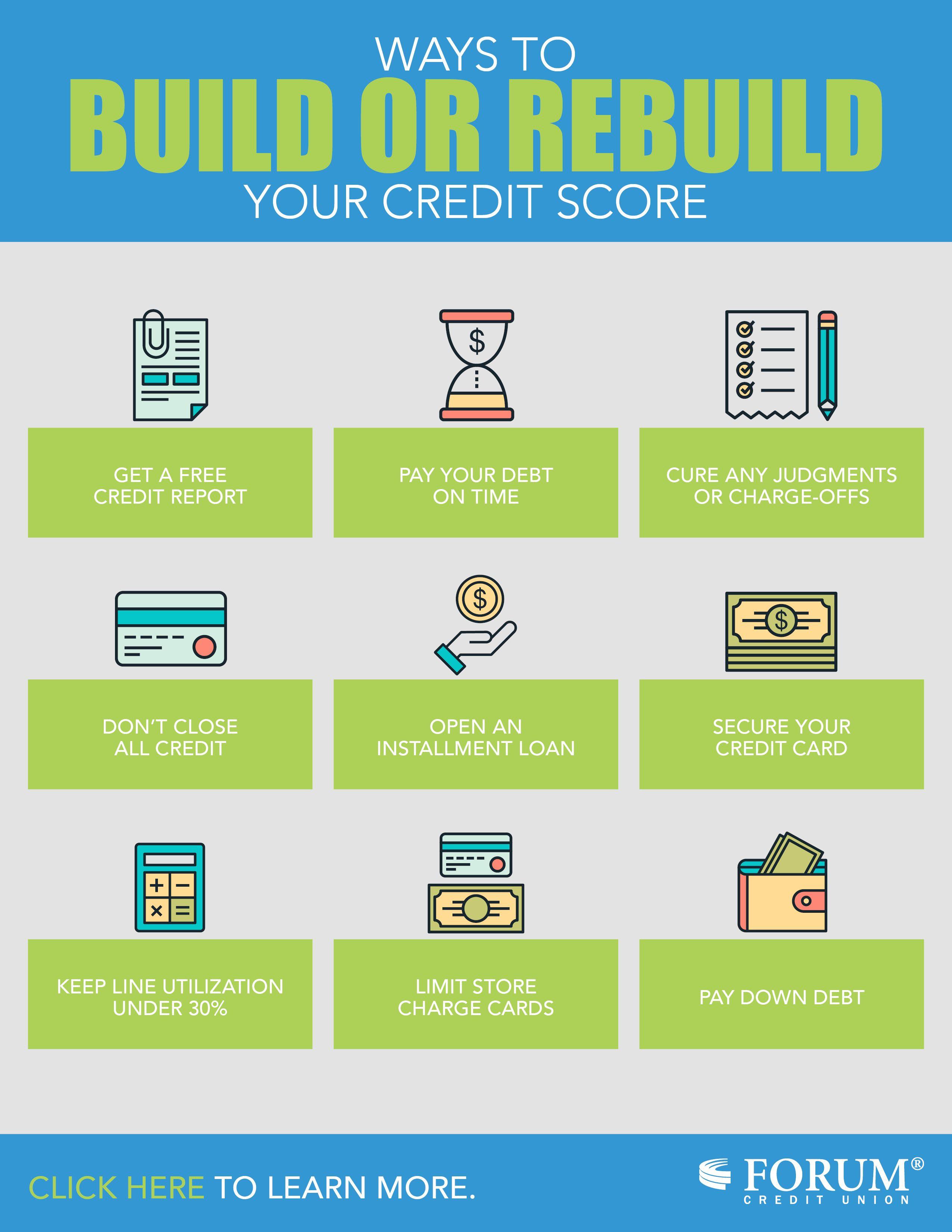 Ways To Build Or Rebuild Your Credit Score Forum Credit Union