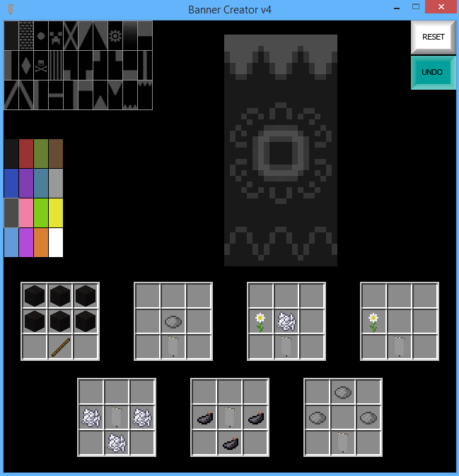 1 8 Snapshot] War Banner Creator - Minecraft Tools - Mapping and