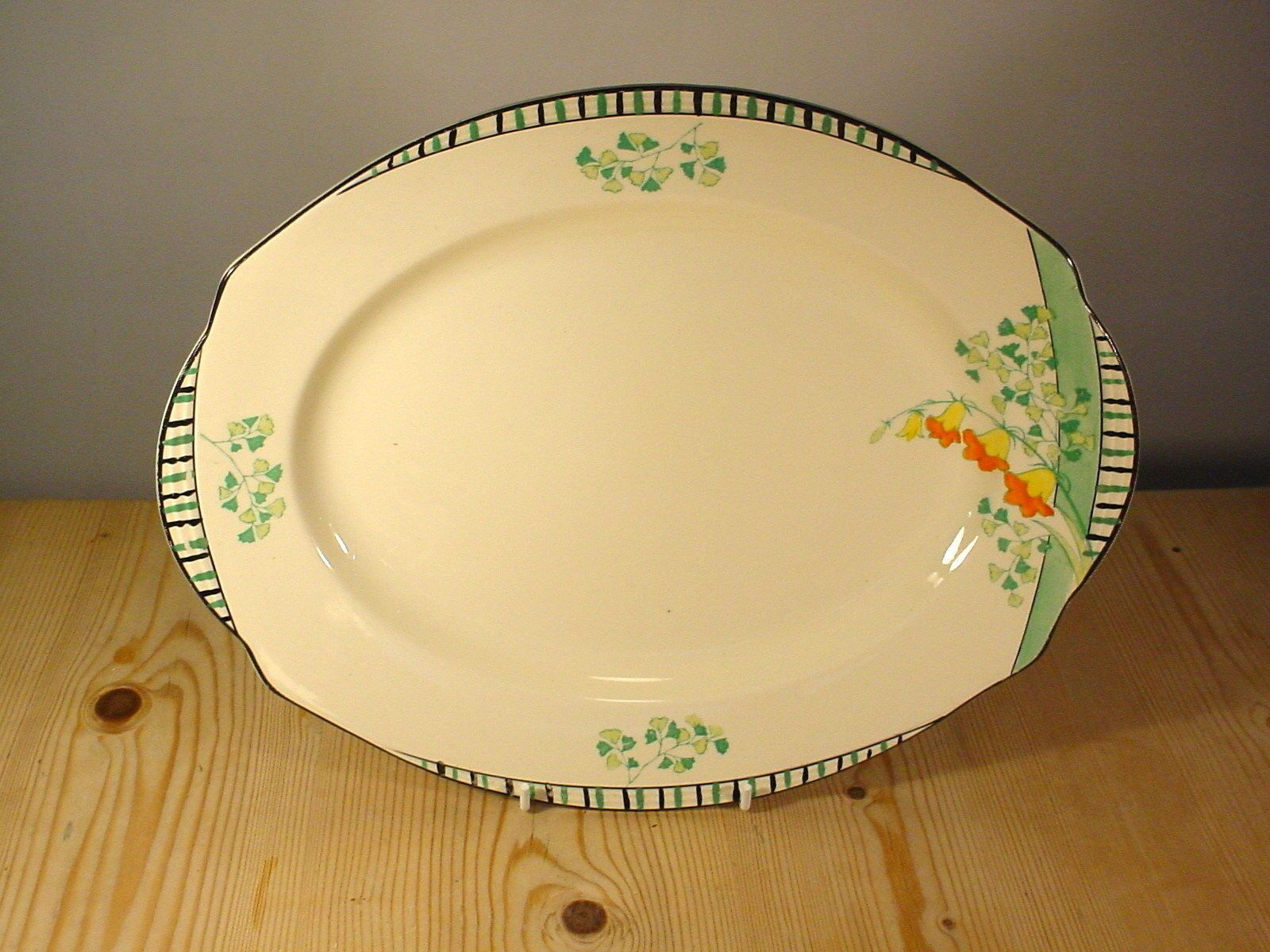 Burleigh Ware Art Deco \ Evergreen\  Oval Meat Platter in Pottery Porcelain \u0026 Glass & Burleigh Ware Art Deco \