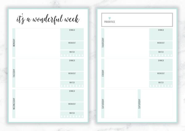FREE PRINTABLE IRMA WEEKLY PLANNERS Free printable, Organizing - printable weekly planner