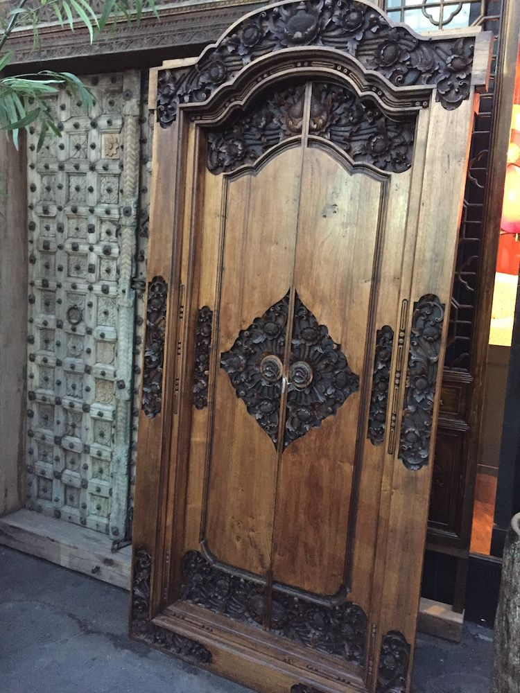 Balinese Teak Doors w/ Lotus Carving & Balinese Teak Doors w/ Lotus Carving | Ananda Interior | Pinterest ... pezcame.com