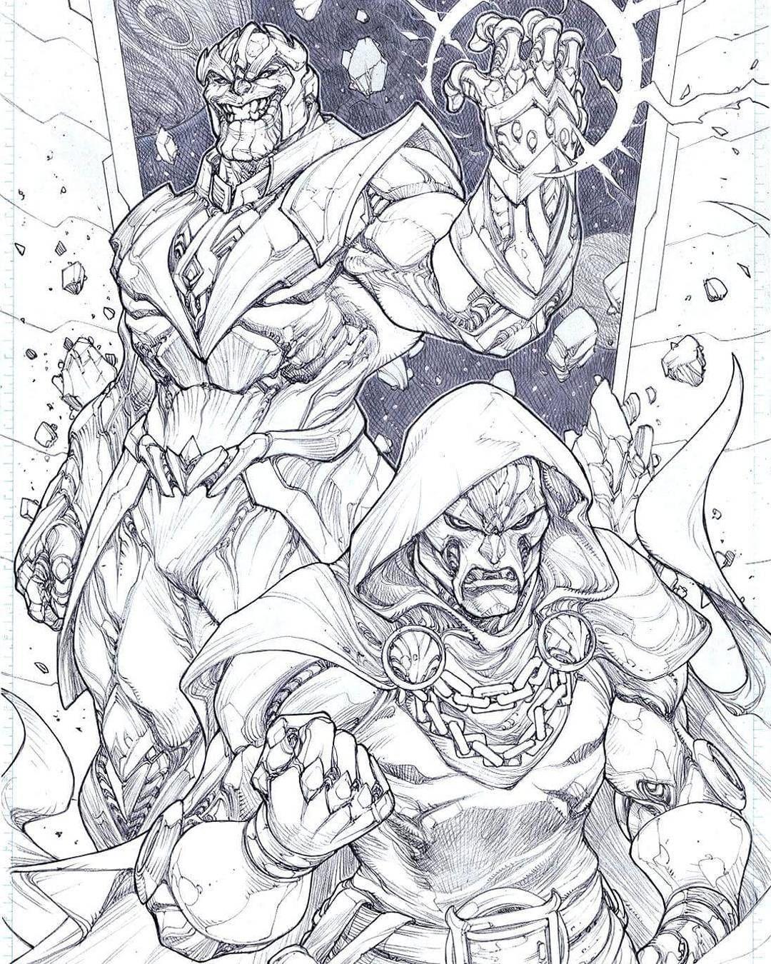 Thanos And Dr Doom Desenhos Ideias Para Desenho Vilas