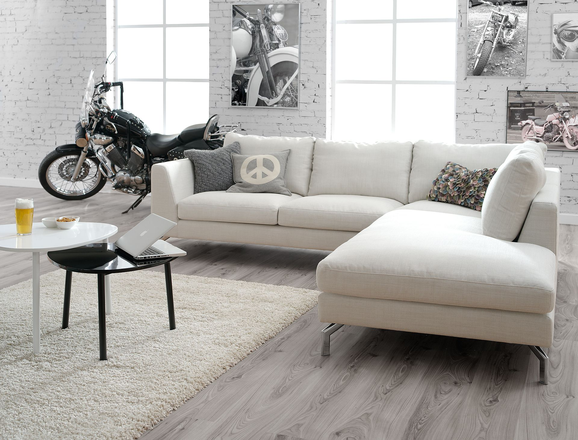 Lshape Sofa  Scandinavian Furniture  Home Inspirations Cool Living Room Sofa Set Designs Review