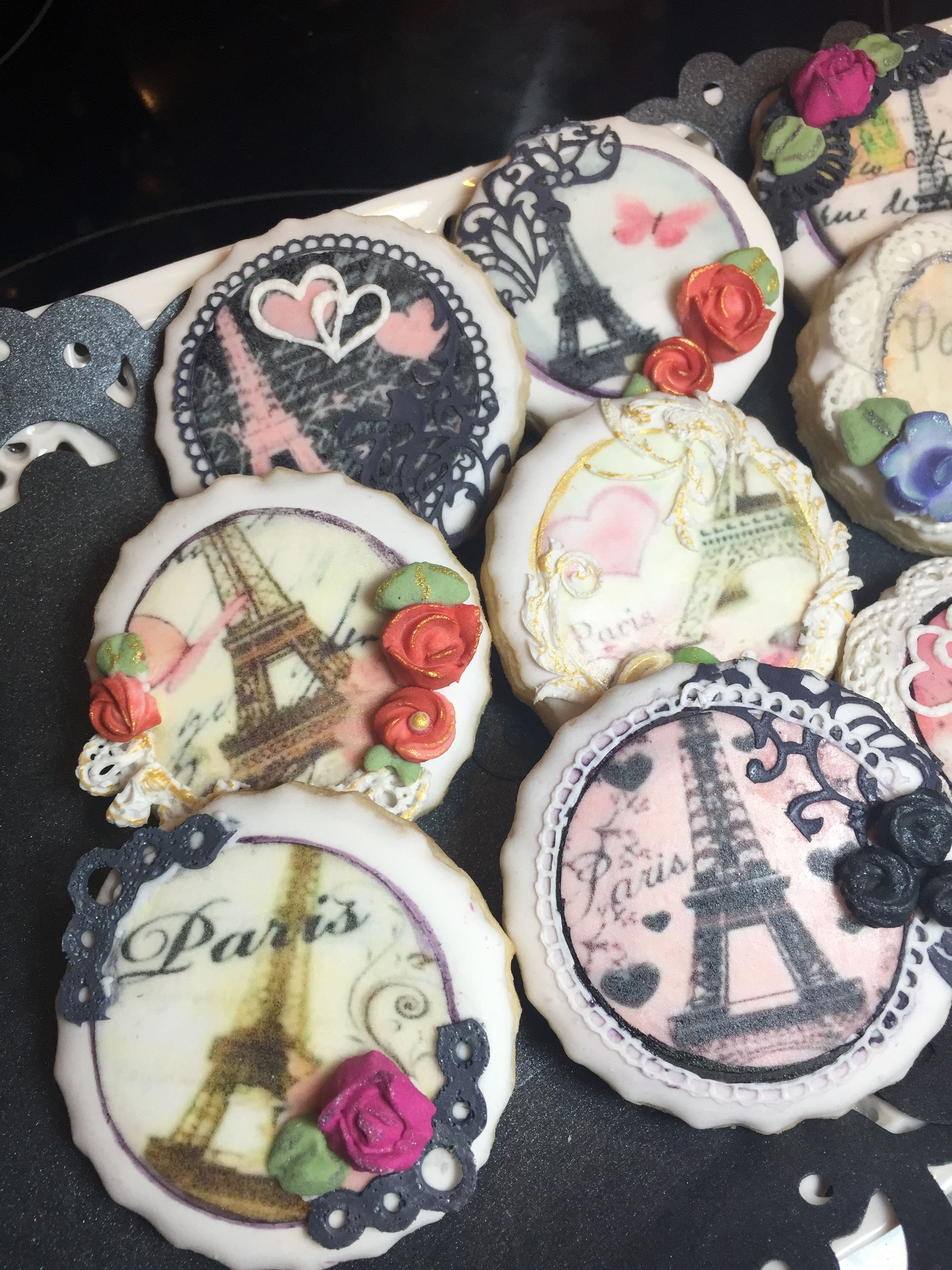 Cookies created using edible images and sugarveil icing