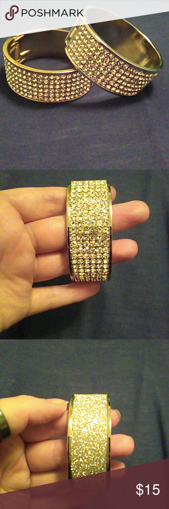 NWOT Silver Rhinestone Sparkle Bracelet I also have a gold version in my closet! Jewelry Bracelets