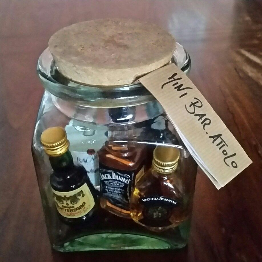 Mini Bar Attolo Bar In A Jar Mason Jar Gifts Booze Bouquet Miniture Things
