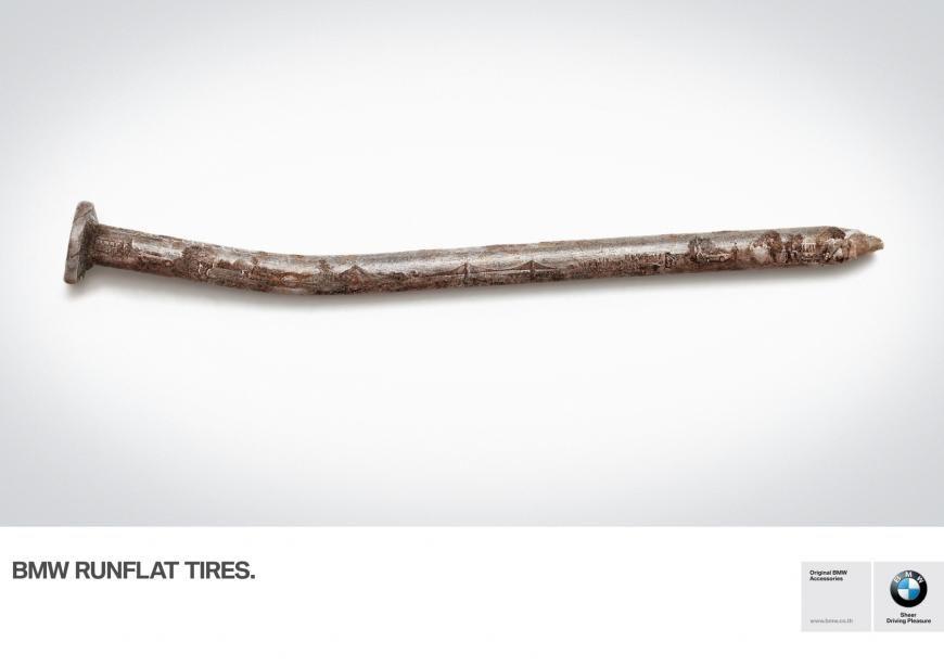 BMW Runflat Tires Life Rolls On Thailand Print ads