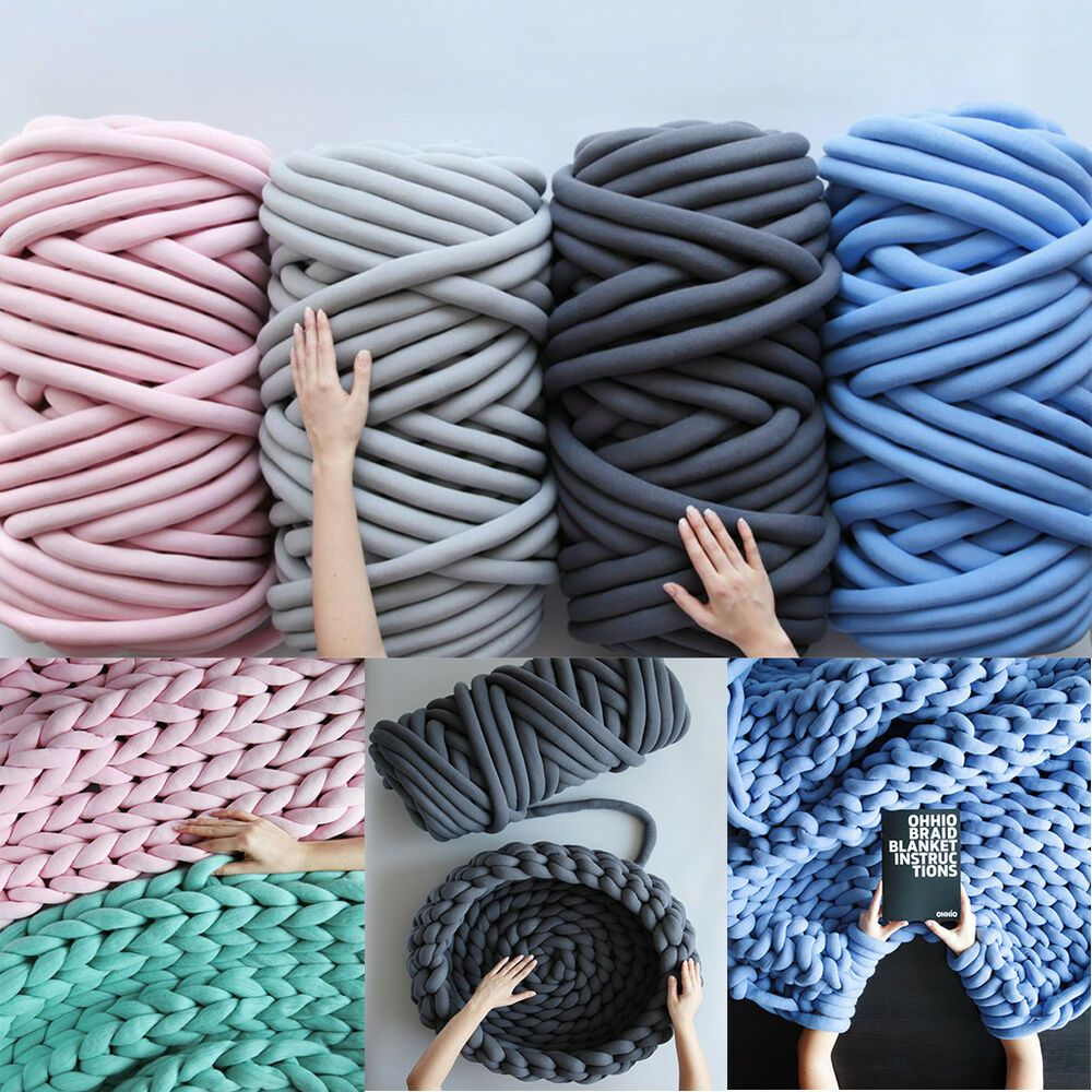 Details about Chunky Wool Yarn DIY Super Thick Soft Bulky