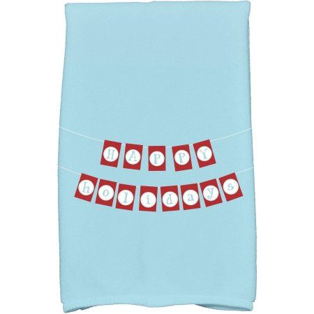 Home Holiday Words Blue Towels Holiday Banner