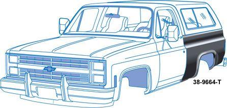 Bedside Panels Chevrolet Blazer Gmc K5 Blazer