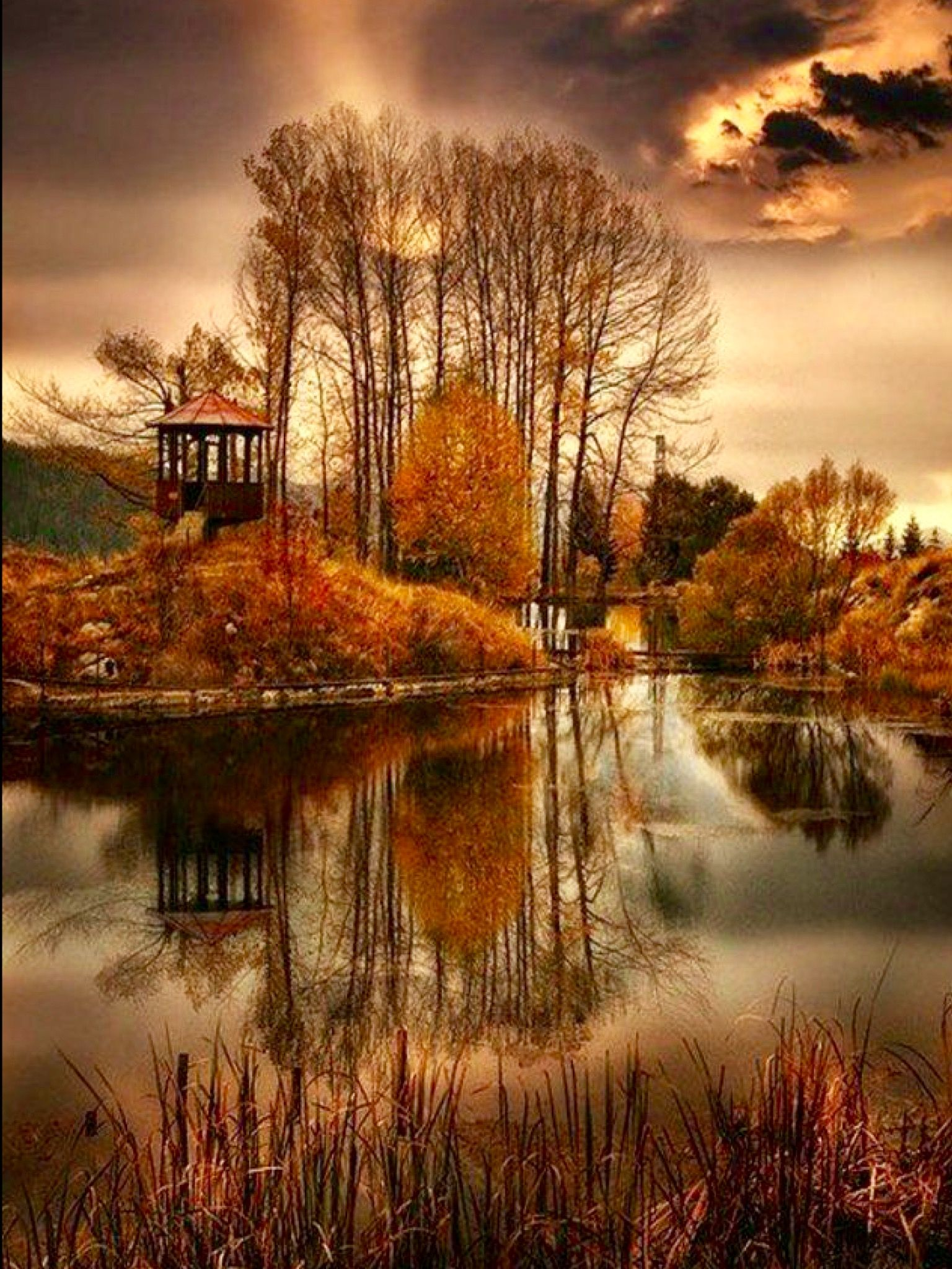 Autumn Gazebo Photo By Aliya Arooj Profile Empowr Com Nature Photography Beautiful Nature Landscape Photography