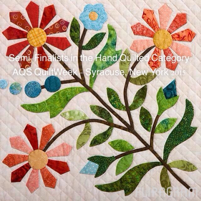 Hand Quilting Category in the AQS QuiltWeek contest in ...