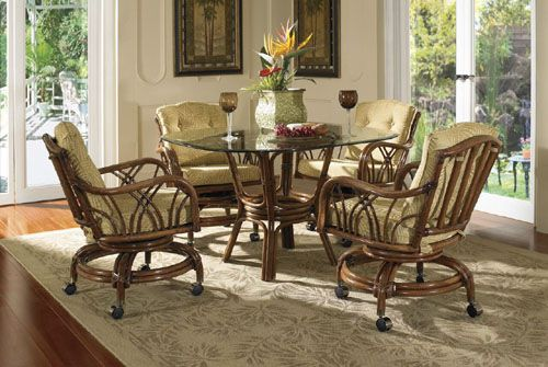 Orchard Park Rattan And Wicker Dining Set From Classic Rattan