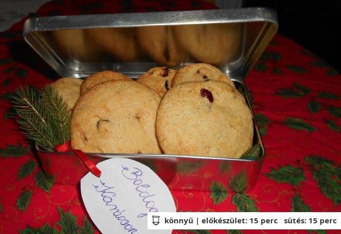 Áfonyás-fehércsokoládés kekszek | NOSALTY – receptek képekkel