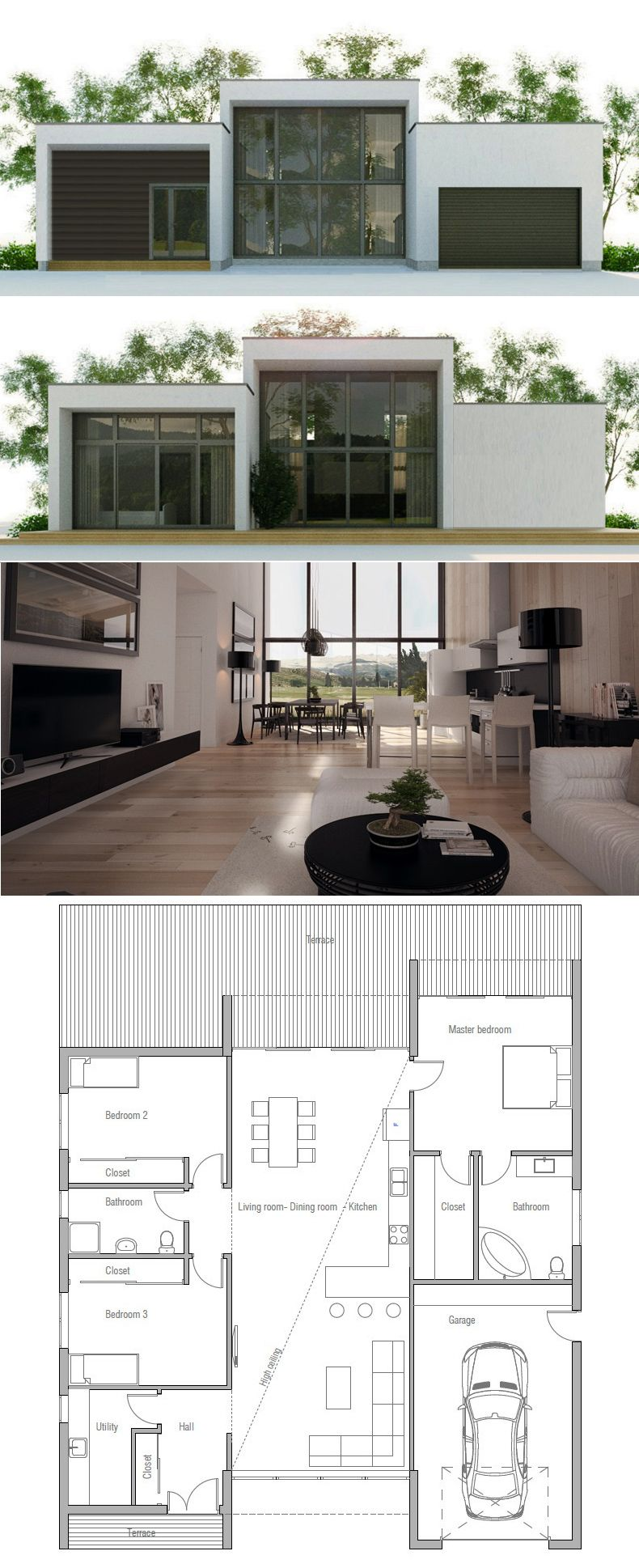 small house plan [ 790 x 1938 Pixel ]