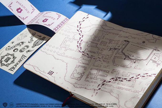 On the Creative Market Blog - Get Your Own Marauder's Map With This New Moleskine Notebook