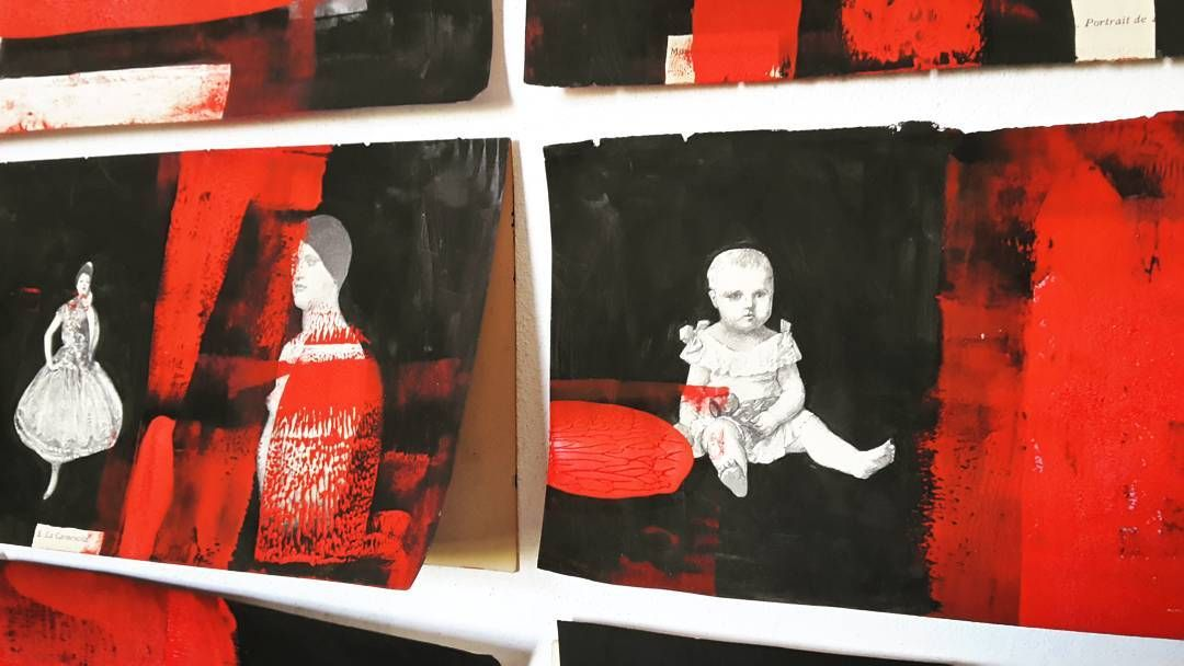 #museodellacittàdirimini #rimini #biennaledeldisegnorimini #red #creepy #blackink by imeonv_
