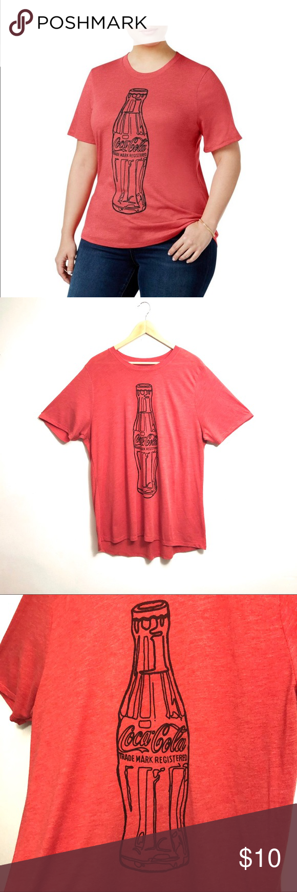 🛍 5/$25 Doe Coca Cola Graphic Short Sleeve Tee Doe   Coca Cola Graphic Short Sleeve T-Shirt. Size 2X...