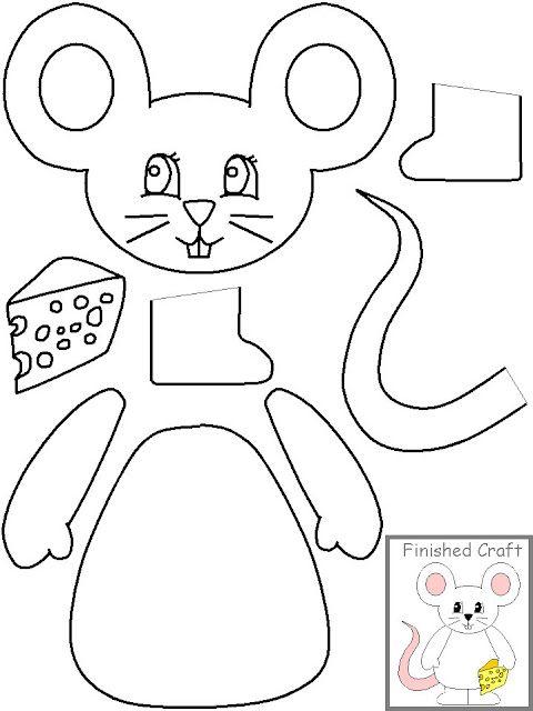 Resultado De Imagen Para Dibujos Para Imprimir Recortar Y Armar Dibujos Para Armar Artesanías De Ratones Animales Para Imprimir