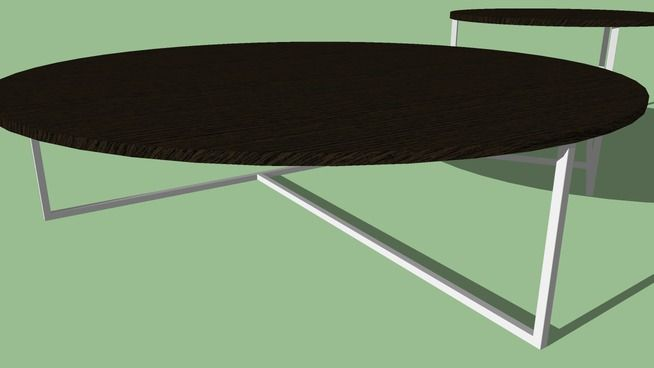 Large preview of 3D Model of Modern coffee table set