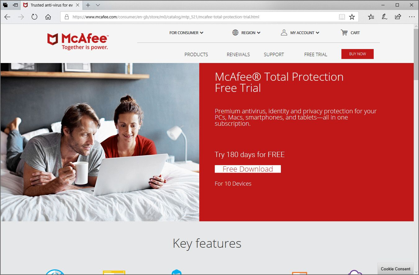 Download McAfee updates, free McAfee Antivirus download, +1