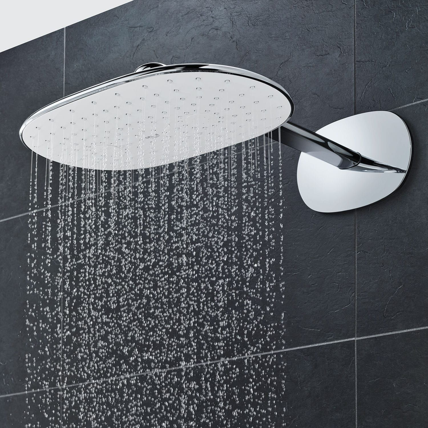 Wall Mounted Shower Head Oval Rain Rainshower Smartcontrol