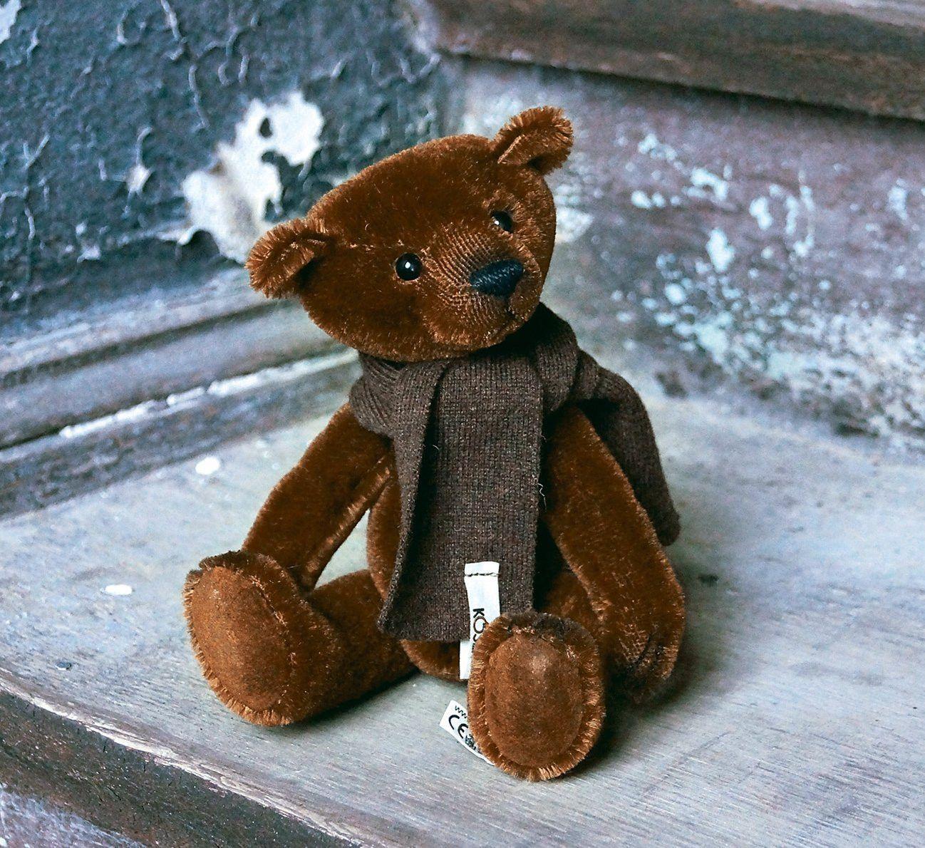 """""""Brownie"""" Mohair Teddy Bear Mohair teddy bear, Teddy"""