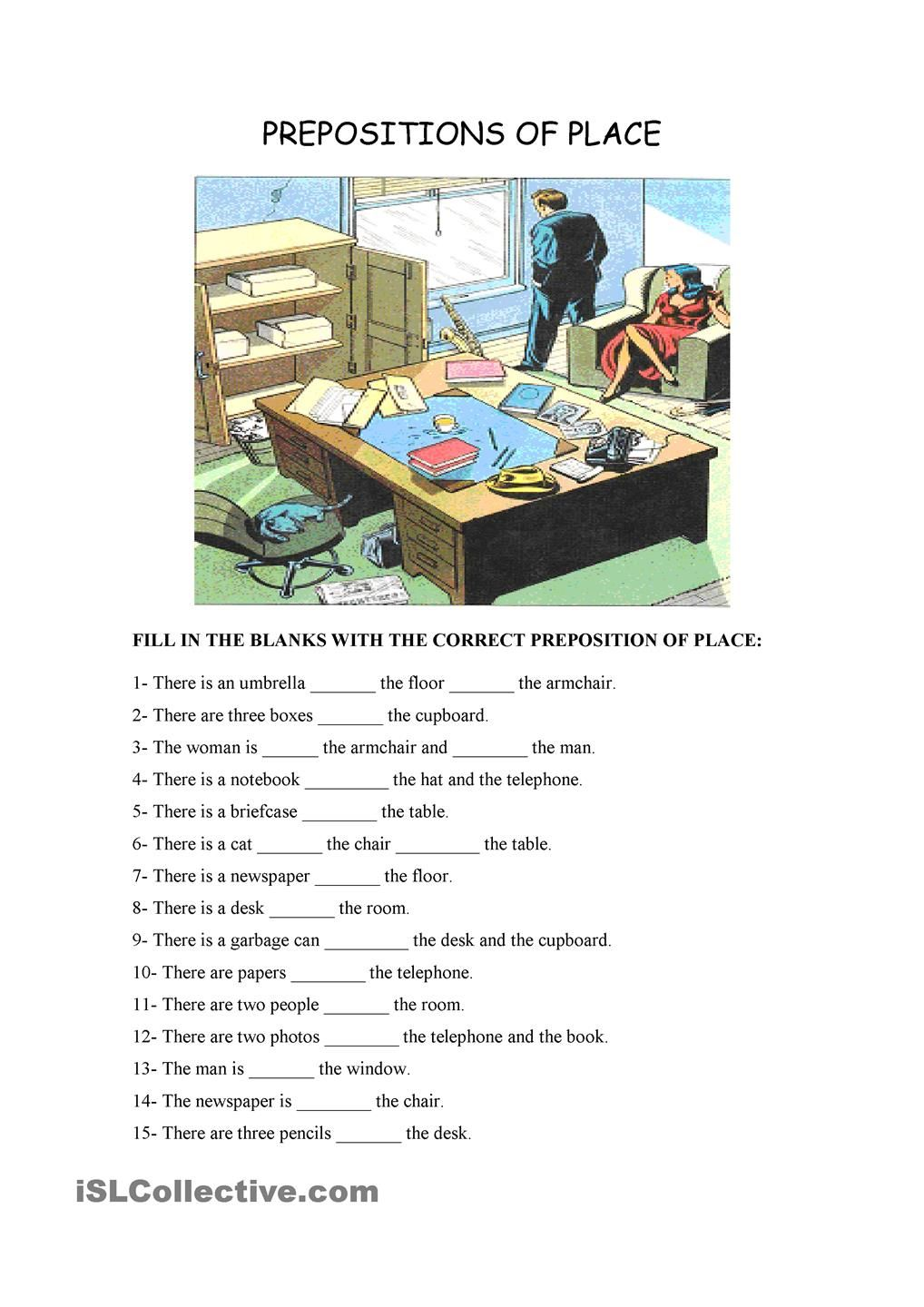 Uncategorized Prepositions Of Place Worksheet prepositions of place esl pinterest platser och arbetsblad place
