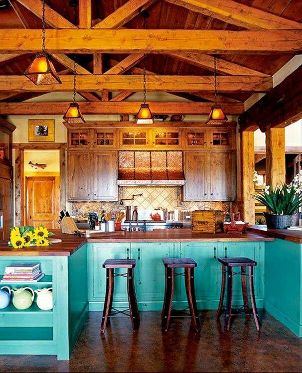 Cuisine Champêtre Moderne: Maison Bohème, Maison, Cuisine Turquoise