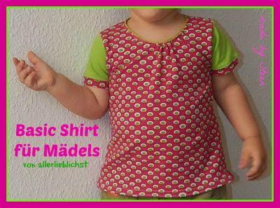 Made by Steen: Basic Shirt für Mädels - Teil I by #allerlieblichst