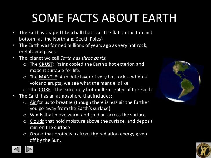 Image result for facts about earth