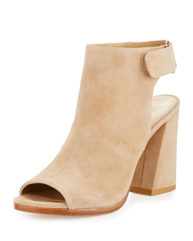 Frontroom Suede Chunky-Heel Sandal, Mojave
