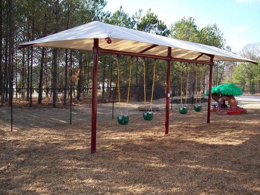 Single Post Swing Frame with Shade | Playland | Kids | Pinterest ...