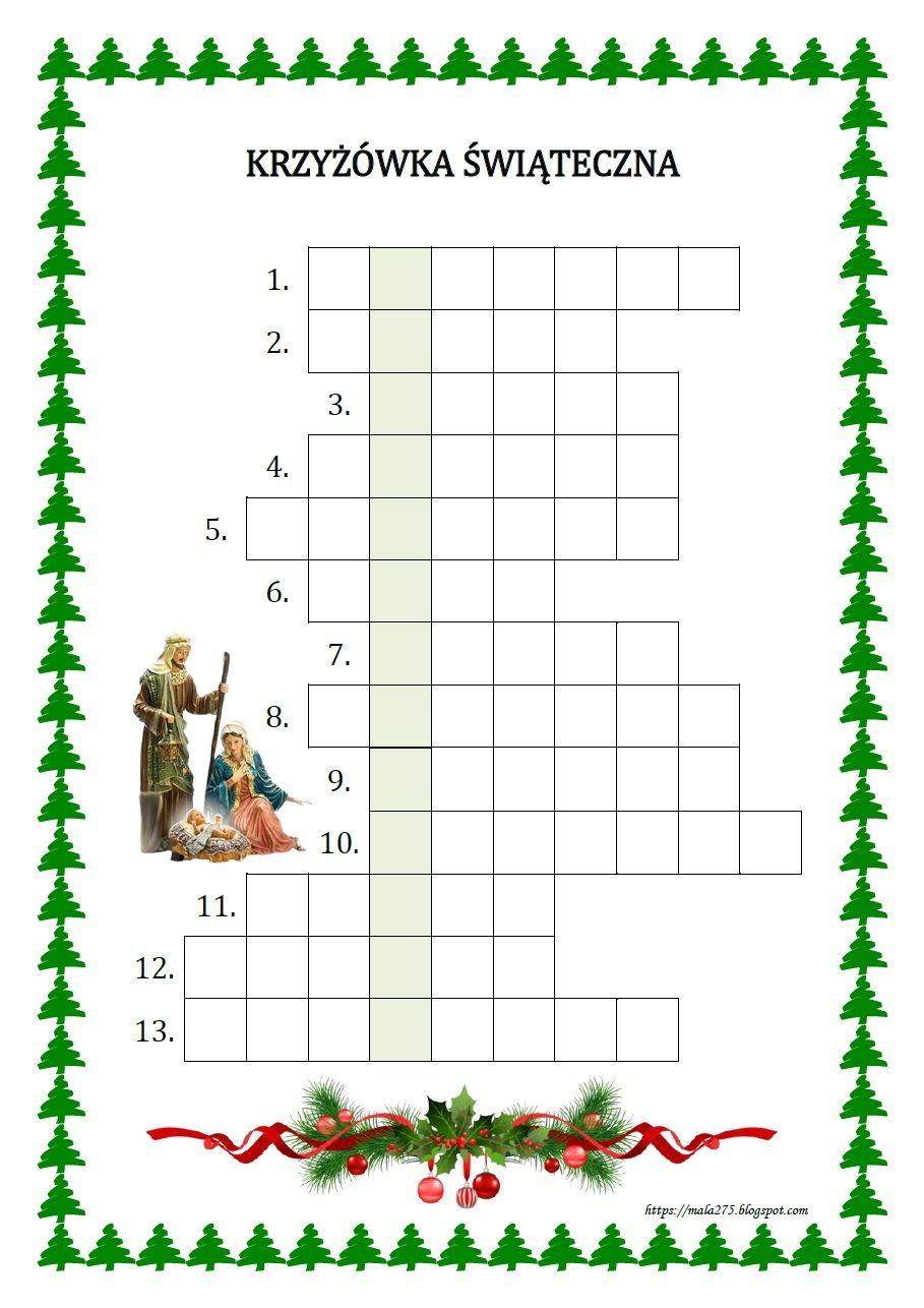 Blog Edukacyjny Dla Dzieci Education Kids Crossword Puzzle