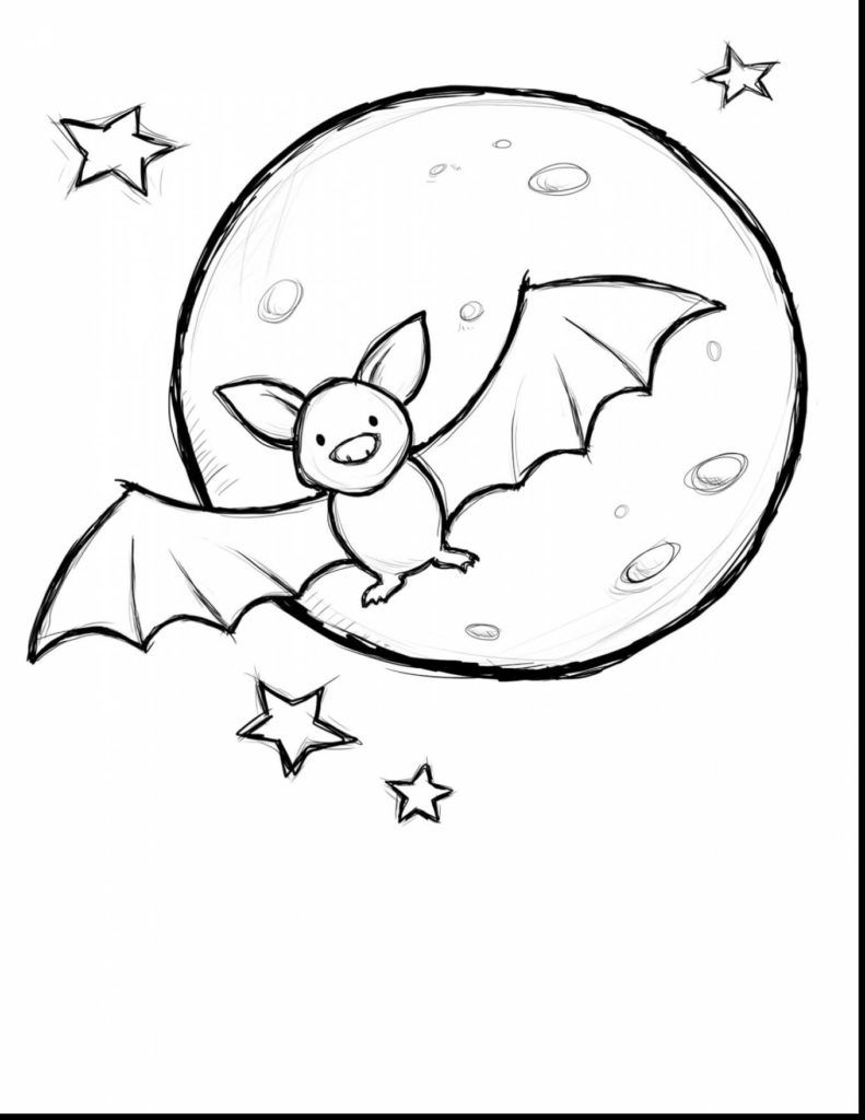 Cool Small Cute Baby Cartoon Vampire Bat Coloring Page Bat