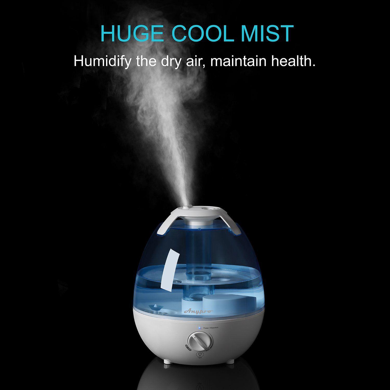 Amazon.com: Ultrasonic Cool Mist Humidifier - Anypro Mist ...