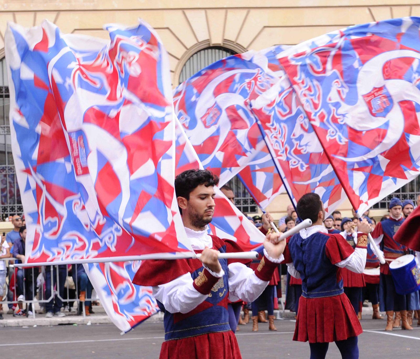 LECCE TENZONE AUREA 2014 - 06 SETTEMBRE - CAMPIONATI NAZIONALI SBANDIERATORI E MUSICI QUALIFICAZIONI SPECIALITA' GRANDE SQUADRA E MUSICI - SESTIERE PORTA ROMANA ASCOLI PICENO