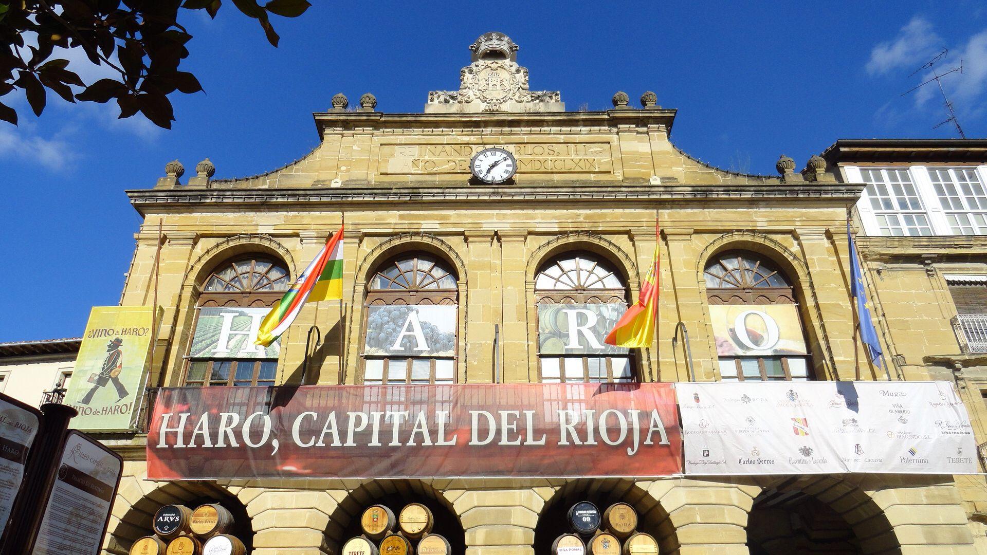 Plaza en Haro, Rioja España