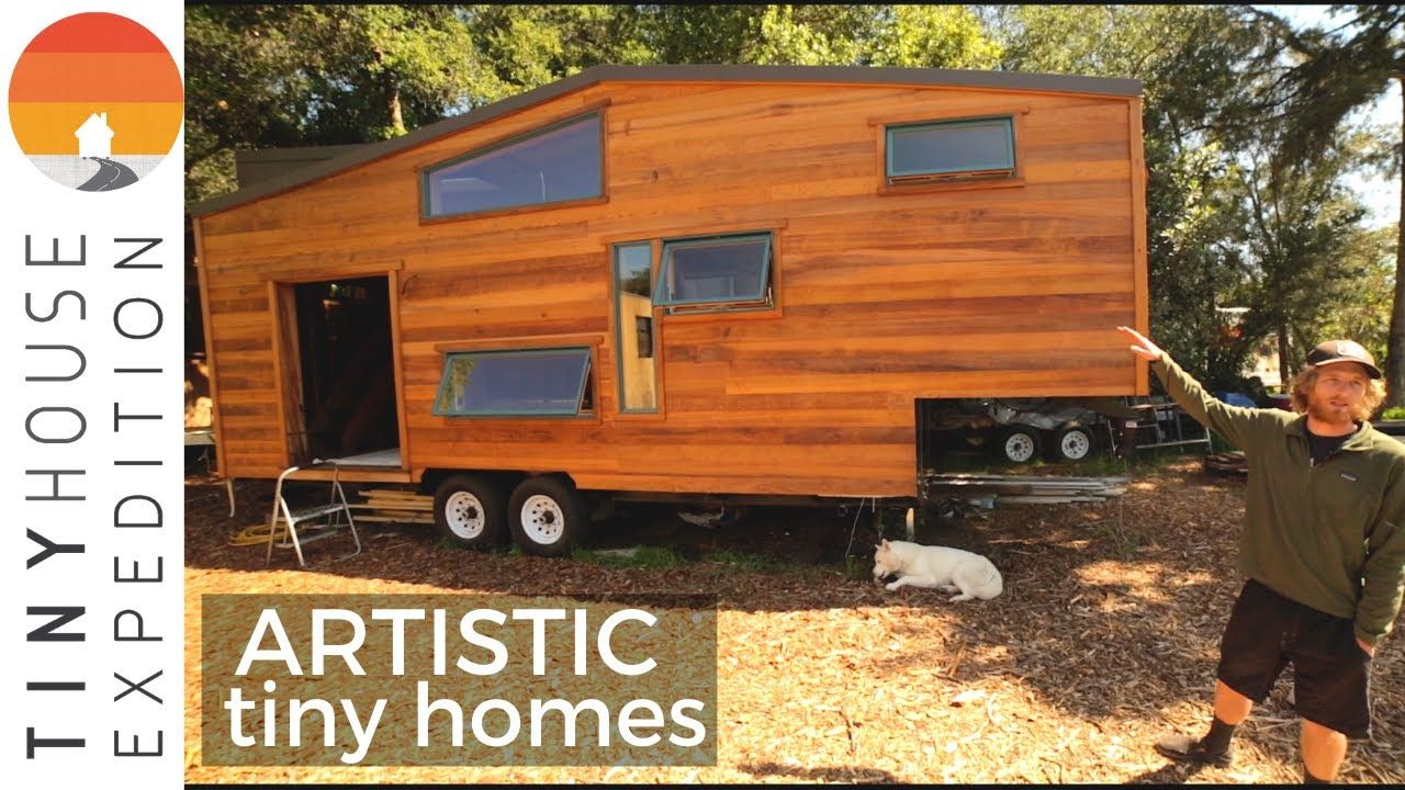 Two Stunning Artistic Tiny Houses By Off Grid Builder In 2020 Tiny House Tiny House On Wheels House On Wheels