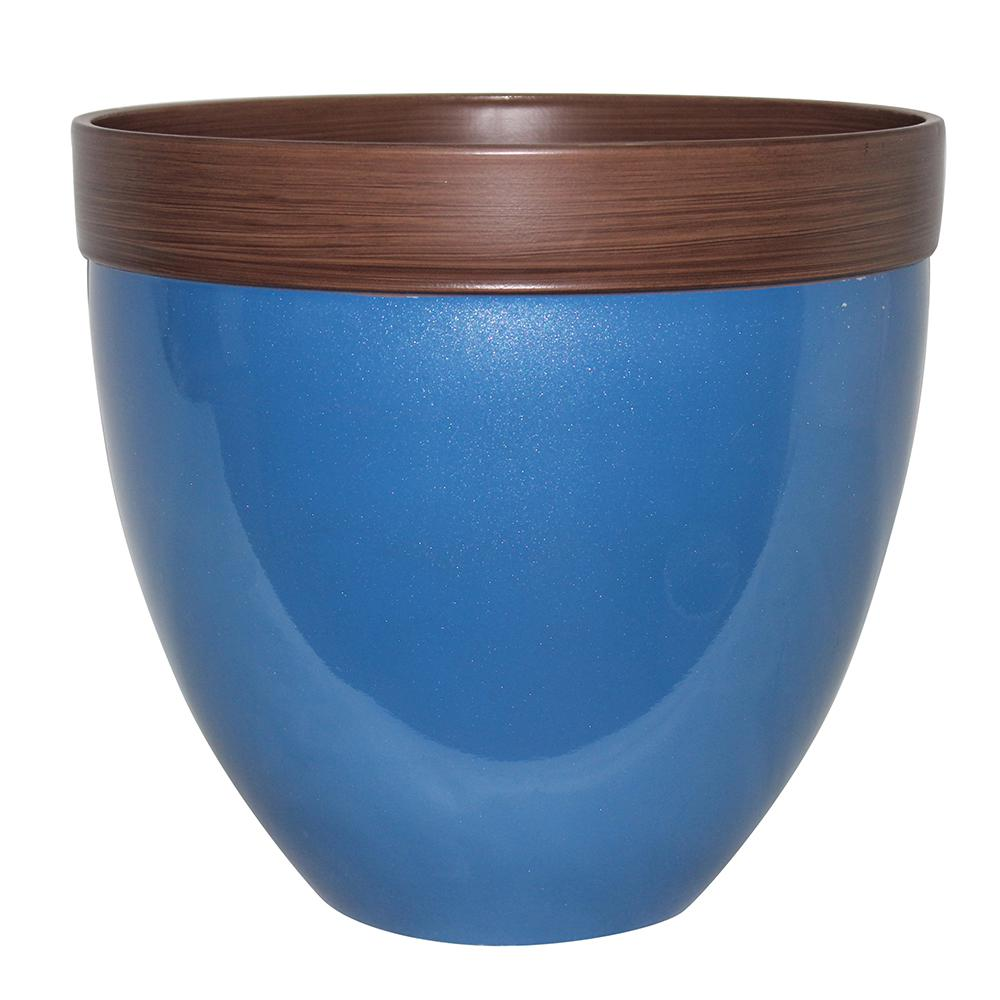 Southern Patio Devyn 14 5 In Dia Sailor Blue Resin Planter Hdr 046875 Resin Planters Planters Planter Pots