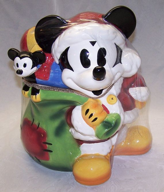 Disney Cookie Jars For Sale Christmas Cookie Jars  Vintage Jcpenney Mickey Mouse Christmas