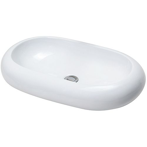 Oval vessel sink at Rona. $75