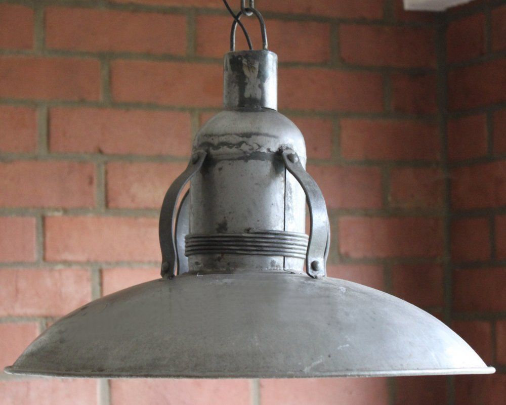 details zu industrielampe deckenlampe werkstatt lampe emaille loft email fabriklampe w1. Black Bedroom Furniture Sets. Home Design Ideas