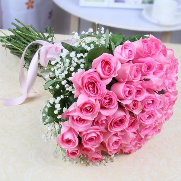 Online Flowers Delivery In Kolkata Pink Rose Bouquet Flower Delivery Pink Roses