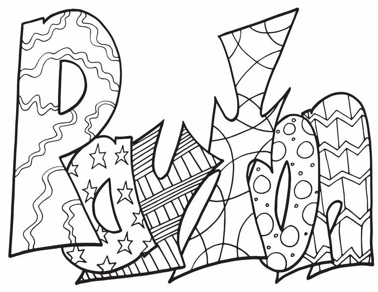 Payton Free Coloring Page Stevie Doodles Free Coloring Pages Name Coloring Pages Coloring Pages