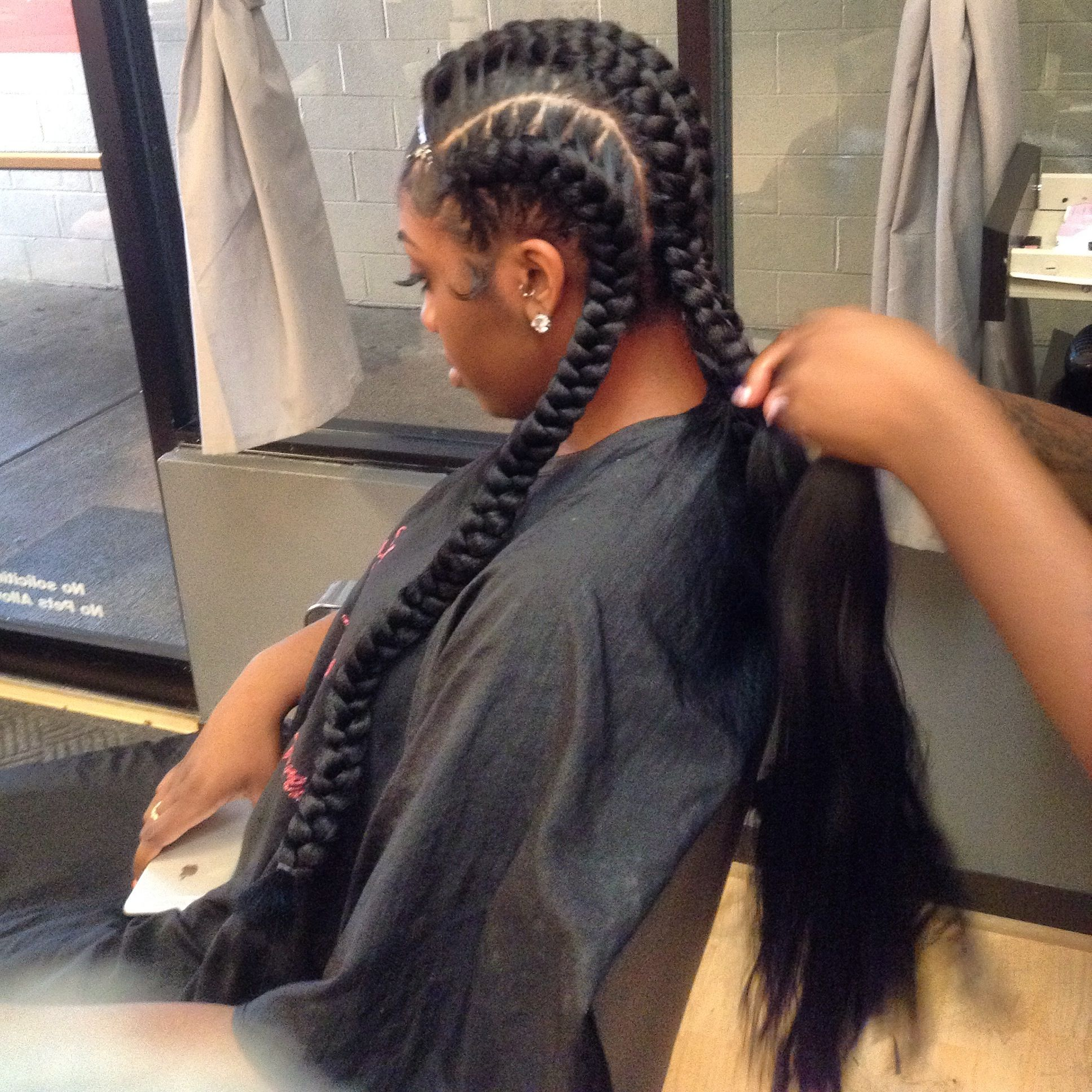 You See The Final Results #polish #neat 30 · French Braidgoddess