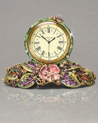 Jay Strongwater Mayfair Leaf & Bee Clock | Reloj, Relojes antiguos y ...
